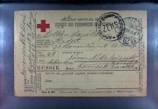 Camp 1917 Russia to Hungary POW Kriegsgefangenenpost Rotes Kreuz Red Cross 267