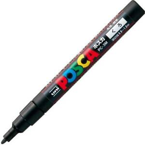 Uni Posca PC3M.24 Water-Based Paint Marker, Fine Point, Black