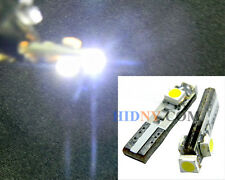 T5 (T4) 3-SMD LED Wedge Bulbs 37 73 75 79 Gauge Cluster Dashboard Lights White