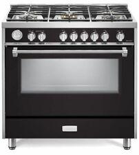 "Verona Designer Series Vdfsgg365E 36"" All Gas Range Convection Oven Matte Black"