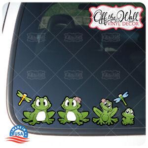 FROG Family Stick Figure Car/Truck/Vehicle Vinyl Decal Sticker