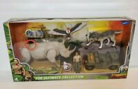 Jumanji THE ULTIMATE COLLECTION Dr Bravestone Rhino Wolf Buzzard Jeep Playset