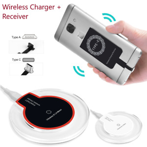 Qi Wireless Fast Charger Dock Charging Pad Receiver For Samsung Android Phone