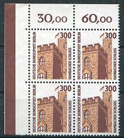 Berlin 799 ** postfrisch Eckrand Viererblock Ecke 1 Sehenswürdigkeiten VB SWK