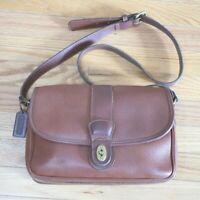 VTG Coach Sheridan Glenwood Crossbody Messenger Bag Brown Pebbled Leather Bag