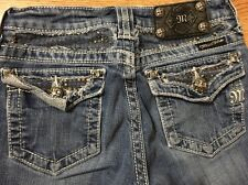 Miss Me Jeans Girls Size 12 Pocket Bling Bootcut