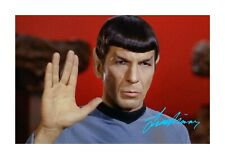More details for leonard nimoy 4 mr spock star trek a4 reproduction poster choice of frame