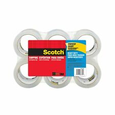 Scotch Heavy Duty Shipping Heavy Packaging Tough Holding Protect Tape 6 Rolls