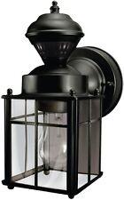Motion Sensor Porch Light Wall Lamp Fixture Outdoor Lantern Exterior Glass Decor