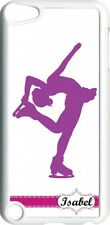 Monogrammed Purple & White Ice Skating iPod Touch 5th Gen 5G White TPU Case