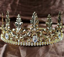 Imperial Medieval Tiara Diadem King Prince Crown Pageant Party Costumes For Men