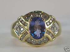 14KY Gold 1.44 Carat Tanzanite & Diamond Ring