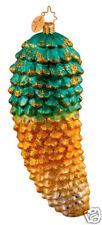 RADKO 1013429 PINEFOREST GOLD - PINE CONE - GREEN & GOLD - RETIRED ORNAMENT
