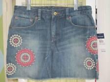NWT RALPH LAUREN girls embroidered denim skirt Sz 14 $75