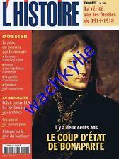 L'histoire n°237 11/1999 Bonaparte Police FLN Fusillés ww1