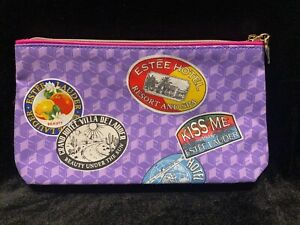 ESTEE LAUDER Rebellious Cosmetic Make-up Bag Purple and Pink NEW