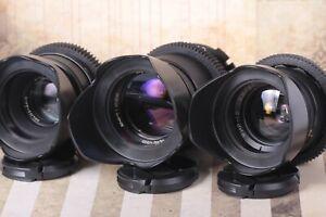 PL mount - Helios 44 Mir-1V Jupiter-37A Fast Cine Lens / Mod Lens / 3 Lenses 📸