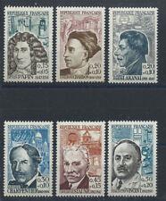 France N°1345/50** (MNH) 1962 - Célébrités