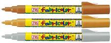 ZIG FABRICOLOR Pennarelli a base d'acqua per tessuto- legno-carta set 12 colori
