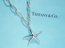 Tiffany & Co Elsa Peretti Sterling Silver Large Starfish Oval Link Necklace