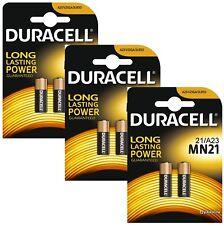 6 Pack Duracell A23 12 Volt Battery MN21 MN23 23AE 21/23 GP23 23A 23GA