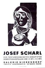 Josef SCHARL - MÄDCHENKOPF -  Original Holzschnitt 1935