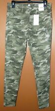 SO Womens Stretch Jeggings - Low Rise, Green Camo  - Size 9 - NWT