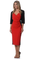 Avella Ladies Plus Size Chrissie Swan Dress sizes 18 20 22 24 26 28 Black Red