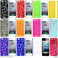 Ultra thin Shockproof Hard Case Cover For iPhone 5 5S SE + Screen Protector Film