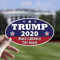 4 X 6 OVAL OUTDOOR STICKER 3 FOR 1 TRUMP 2020 ELECT THAT MF/'ER AGAIN