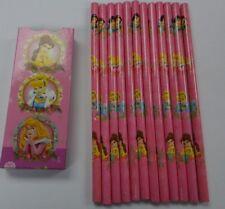 Disney Princess Pencils PINK HB Pack of 12 - Ideal Party Bag Filler