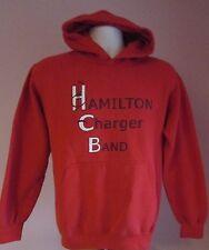 Vintage Homme Gildan Hamilton Chargeur bande rouge USA Sweat à capuche taille S