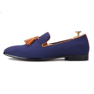 Merlutti Orange Tassel Blue Casual Loafers