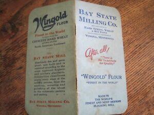 BAY STATE MILLING CO. WINONA MINNESOTA MEMO BOOK 1932-33 CALENDARS