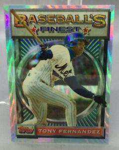 1993 Topps Refractor - Tony Fernandez - Baseball Card
