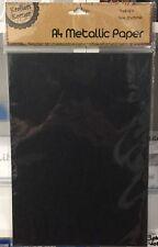 NEW - A4 METALLIC PAPER - 6 SHEETS - BLACK