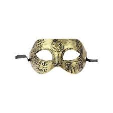 Gold-Ton Herren venezianischen Halloween-Kostuem-Party Maskerade Maske L8T9