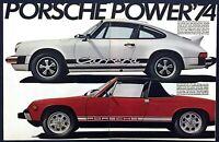 1974 Porsche 911 Carrera & 914 2.0 Mid-Engine Coupe photo 2-page print ad