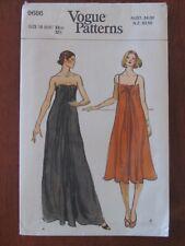VOGUE PATTERN - 9686 LADIES DRESS EVENING FORM DRAPED FRONT SIZE 10 UNCUT