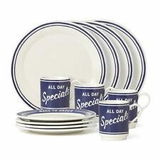 Kate Spade All In Good taste Orders up 12 Piece Dinnerware Set, White New in Box