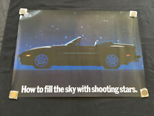 PORSCHE OFFICIAL 944 S2 CABRIOLET 'STARS' SHOWROOM POSTER 1989 USA VERY RARE