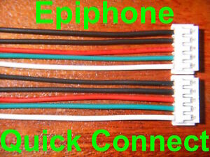 2 Quick Connect adapters for Epiphone push pull pot pickup connectors Pro plug