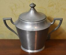 New listing Gimbels Solid Pewter Sugar Bowl with Lid 210