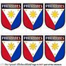 """PHILIPPINES Philippine Shield Mobile Cell Phone Mini Decals-Stickers, 1,6"""" x6"""