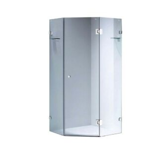 900/950/1000/1100/1200*1900mm Frameless Shower Screen Diamond Corner 10mm Pivot