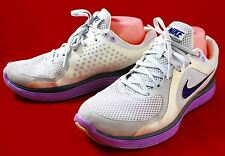 Nike Lunarswift+ Lunarlite Running Athletic Shoes Women's Size 8.5 White/Purple