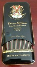 New listing Chateau De La Fuente Opusx 1992 Rare Estate Reserve (Holds 3) Cigars Tin Case