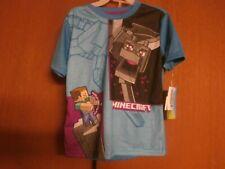 Minecraft boys 2 piece pajama set size 6/7  Brand New with Tags