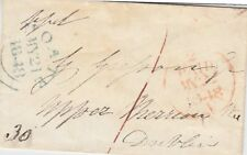 IRELAND :1848 very small prepaid stampless envelope to Dublin-MOATE