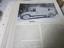Nutzfahrzeug Archiv 5 Alltag 5430 Großlautsprecherwagen 1928 Siemens AG
